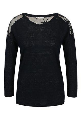 Bluza neagra cu spate translucid - Rich & Royal