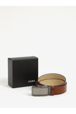 Curea maro din piele pentru barbati - KARA