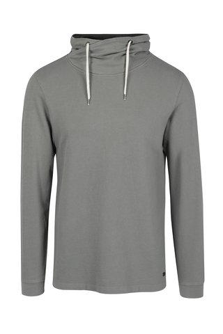 Bluza slim fit  gri cu guler inalt pentru barbati s.Oliver