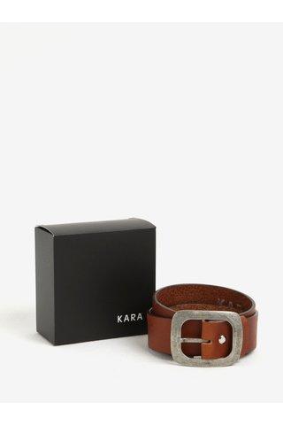 Curea maro din piele naturala cu catarama pentru femei - KARA