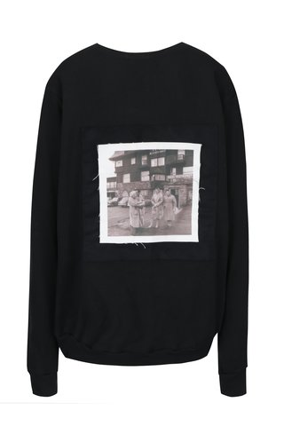 Bluza sport unisex negru cu aplicatie printata pe spate - La femme MiMi Teta Věra no.1