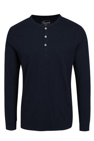 Tmavě modré tričko s dlouhým rukávem Jack & Jones Premium Melton