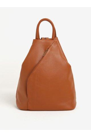 Rucsac maro din piele naturala pentru femei - KARA