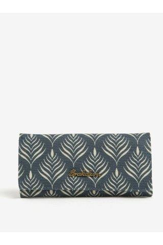 Krémovo-modrá vzorovaná peněženka Brakeburn