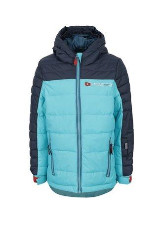 Tyrkysová dětská lyžařská funkční voděodolná bunda LOAP Otoman