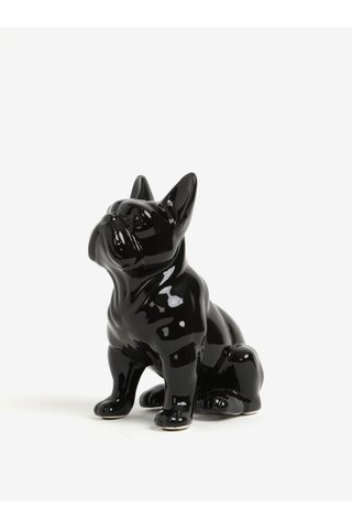 Pusculita decorativa neagra sub forma de buldog francez - Sass & Belle Money