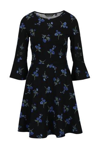 Rochie albastru & negru cu maneci clopot Dorothy Perkins
