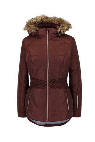 Hnědá dámská lyžařská funkční voděodolná bunda LOAP Fabiana