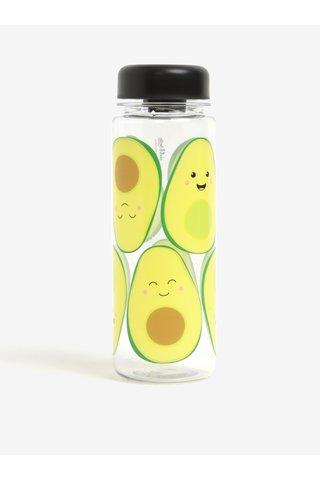 Žlutá láhev na vodu s motivem avokáda Sass & Belle Happy Avocado