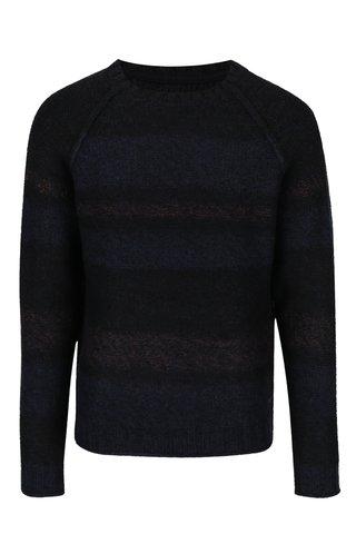 Modro-černý žíhaný svetr ONLY & SONS Ollan