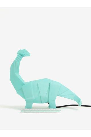 Lampa verde Disaster in forma de dinozaur