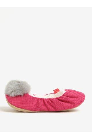 Papuci de casa roz cu pompon - Tom Joule