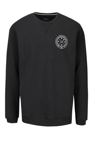 Bluza gri inchis cu print pentru barbati Quiksilver Popthebell