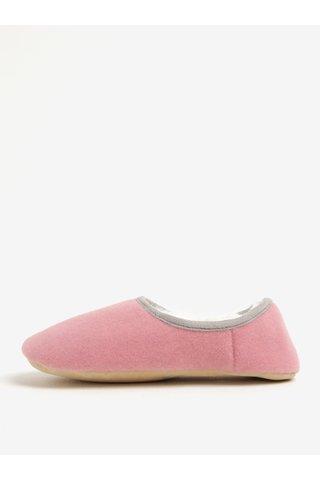 Papuci roz de casa cu broderie Beagle si blana artificiala pentru femei - Tom Joule Slippets