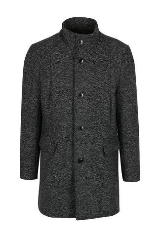 Palton gri melanj din amestec de lana pentru iarna - Selected Homme Mosto