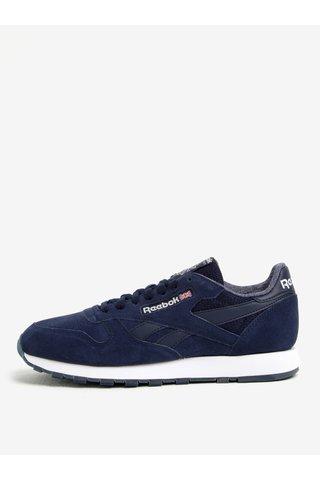 Pantofi sport bleumarin din piele intoarsa pentru barbati - Reebok NM