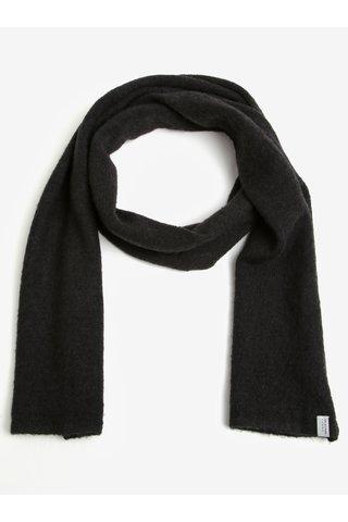 Fular elegant negru din amestec de lana -  Selected Homme Cali