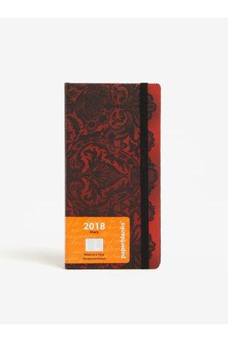 Černo-červený vzorovaný diář 2018 Paperblanks Rouge Boudoir
