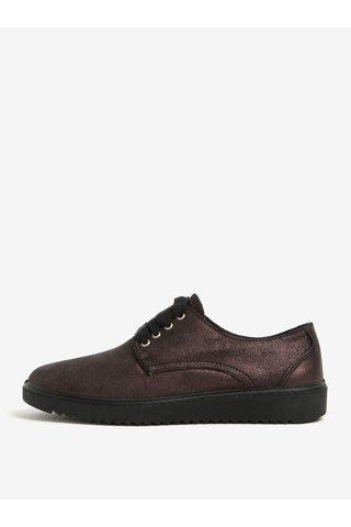 Pantofi bordo metalic din piele OJJU