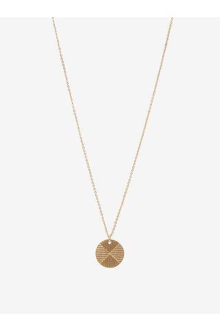 Colier auriu cu pandantiv VILA Efj Emblem