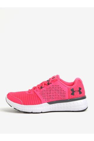 Pantofi sport roz de alergare cu detalii din piele pentru femei  - Under Armour Fuel