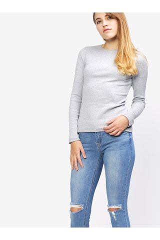 Světle šedé tričko s dlouhým rukávem MISSGUIDED
