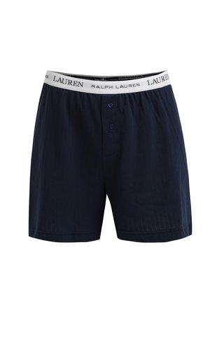 Boxeri clasici bleumarin cu nasturi, logo si talie elastica - Lauren Ralph Lauren Jacquard