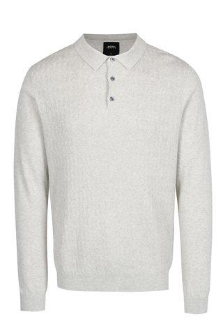 Krémový vzorovaný svetr s límečkem Burton Menswear London