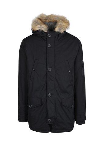 Geaca neagra de iarna cu gluga - Burton Menswear London