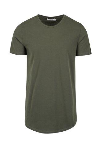 Khaki basic tričko pod košili Jack & Jones Premium Hugo