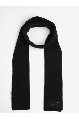Fular barbatesc negru din bumbac - Superdry Orange