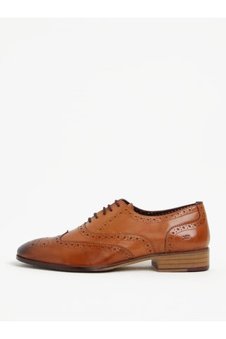 Pantofi brogue maro din piele naturala -  London Brogues Wister Oxford