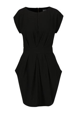 Rochie neagra cu cordon in talie Closet