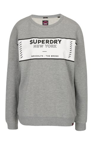 Bluza gri cu print pentru femei - Superdry Sport