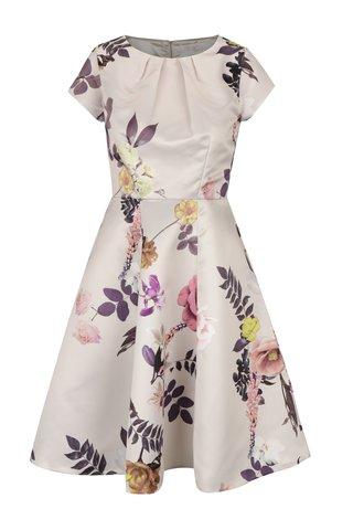 Rochie bej clos cu print floral Closet