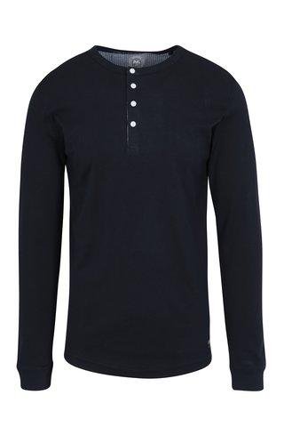 Bluza basic bleumarin cu nasturi Lindbergh