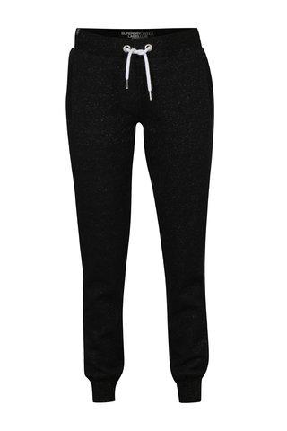 Pantaloni sport negri cu fibre stralucitoare pentru femei - Superdry Luxe