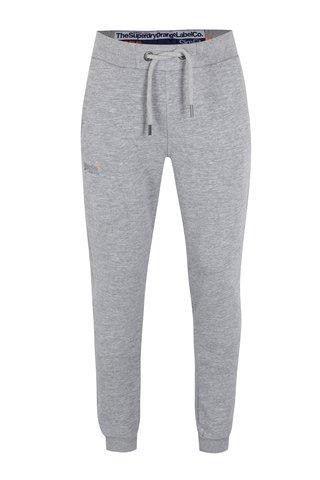 Pantaloni sport slim fit gri pentru barbati - Superdry Orange