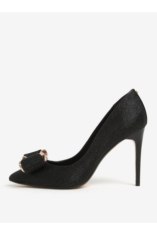 Pantofi negru & auriu cu toc - Ted Baker Azeline