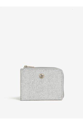 Malá peněženka ve stříbrné barvě na mince Dorothy Perkins