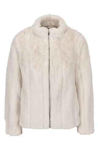 Jacheta bej din blana artificiala Dorothy Perkins Petite