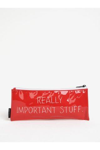 Červený penál na psací potřeby CGB