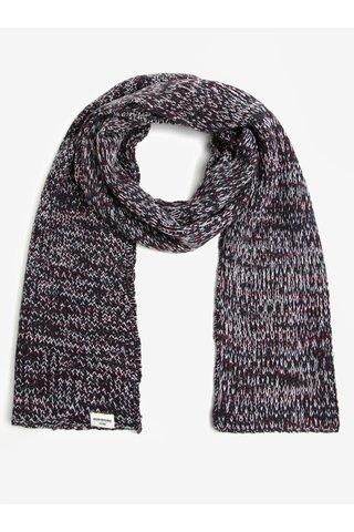 Fular tricotat bleumarin cu bordo Shine Original