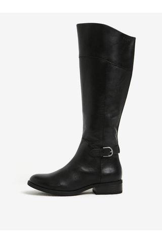 Cizme negre din piele naturala cu fermoar - Vagabond Cary