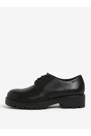Pantofi negri din piele naturala cu talpa aderenta - Vagabond Kenova
