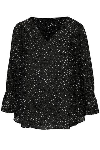 Bluza neagra din voal cu buline Dorothy Perkins Curve