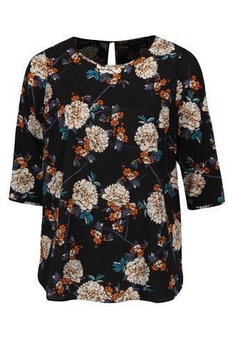 Bluza bleumarin lejera cu print floral Dorothy Perkins Curve