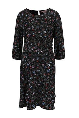 Rochie neagra cu print floral si cordon Dorothy Perkins Maternity