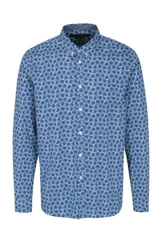 Modrá vzorovaná košile Merc