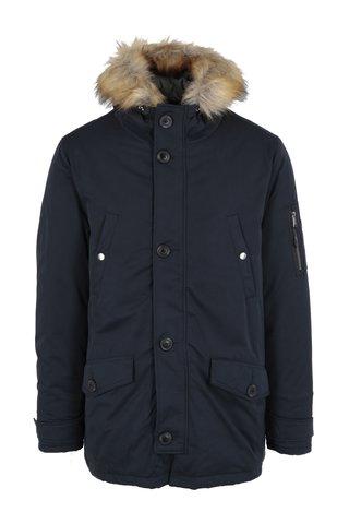Geaca parka bleumarin barbateasca de iarna Burton Menswear London